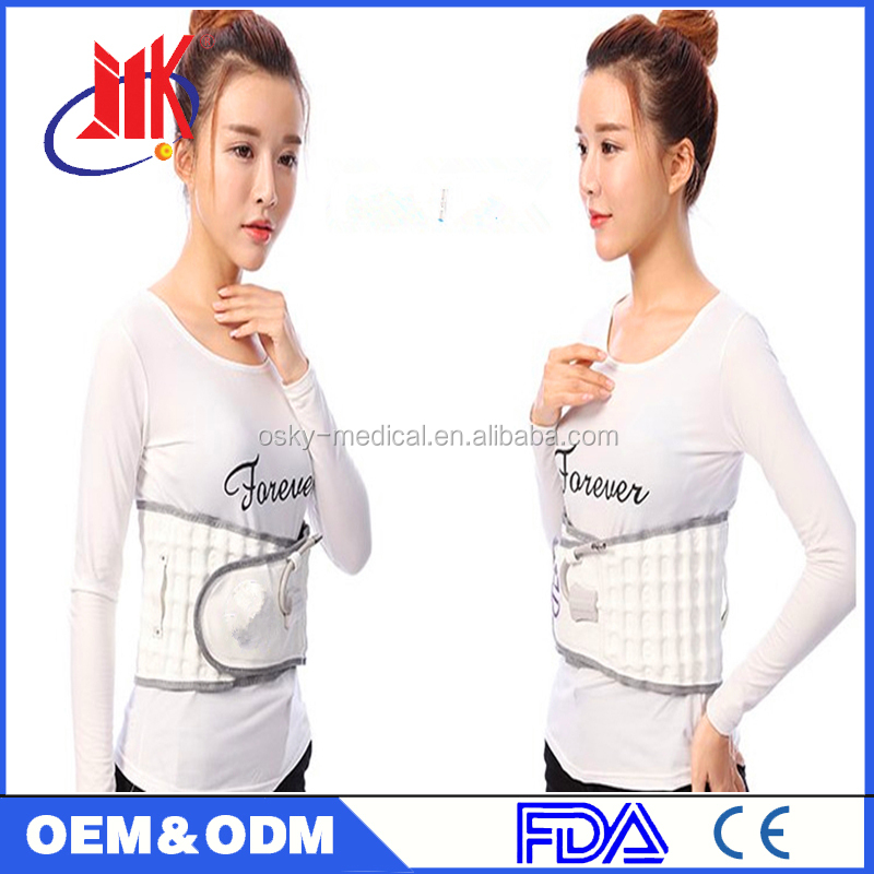 Air Waist transaction belt with pump for back corrector support therapy rehabilitation tools with CE approval