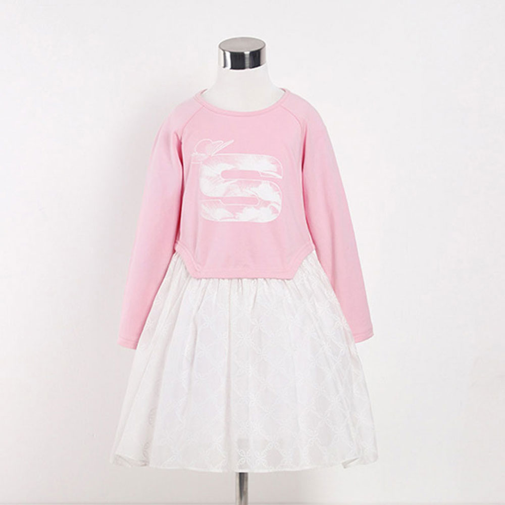 Casual Dresses For Girls Pink Embroidered Cotton A-line Baby Dresses Girl