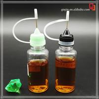 vapor juice pe/pet 30ml needle caps e liquid plastic dropper bottles with safety cap