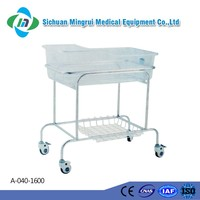 Directly factory sale pp stainless steel lightweight hospital crib