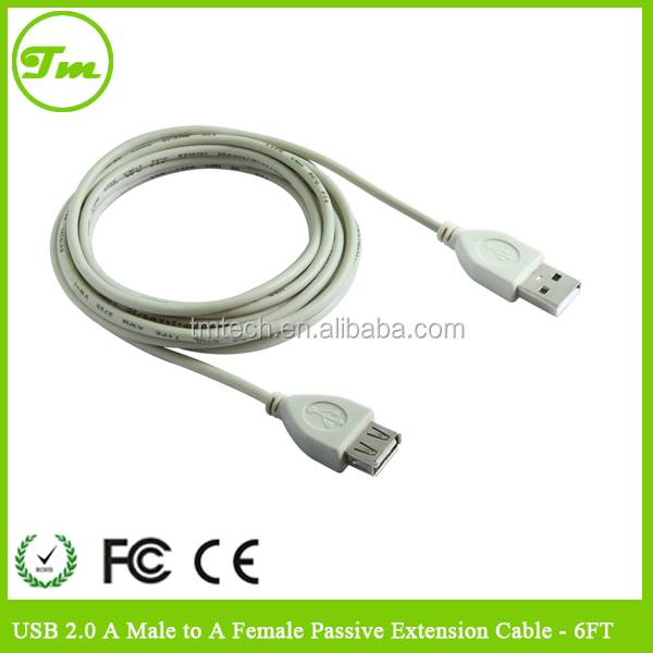 USB 2.0 cable A Male to A Female Passive Extension Cable - 6 FT