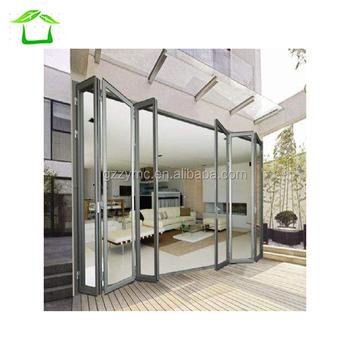 Home depot aluminum exterior glass folding door buy for Accordion glass doors home depot