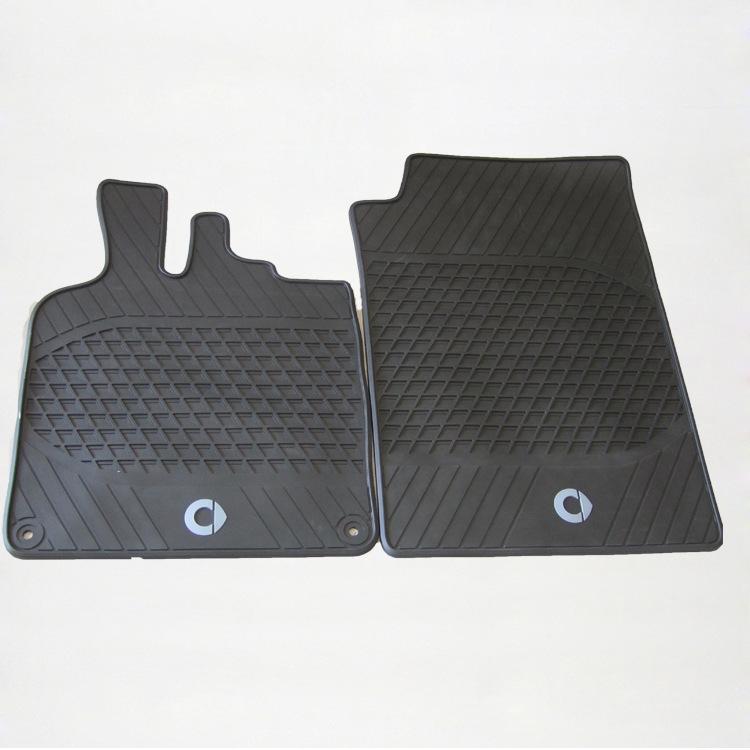 Coverking Custom Fit Front Floor Mats for Select Mazda 5 Models Black Nylon Carpet