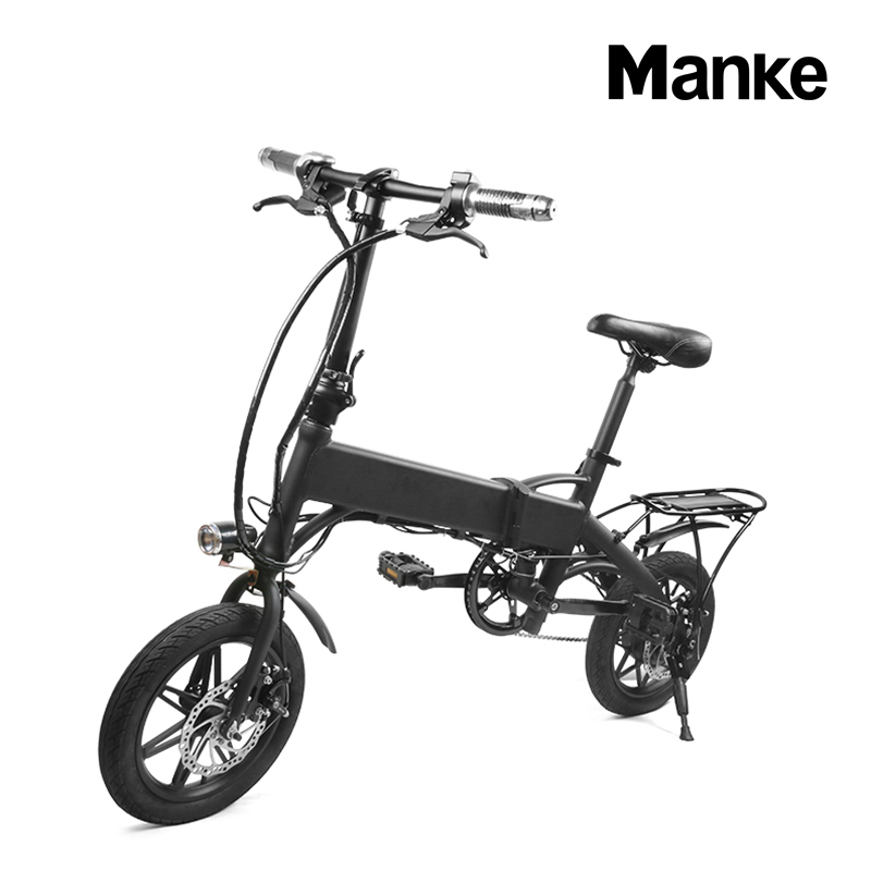Manke hot selling brushless 250W motor electric bicycle,<strong>folding</strong> intelligent electrical bike 14 inch pedal electric bike