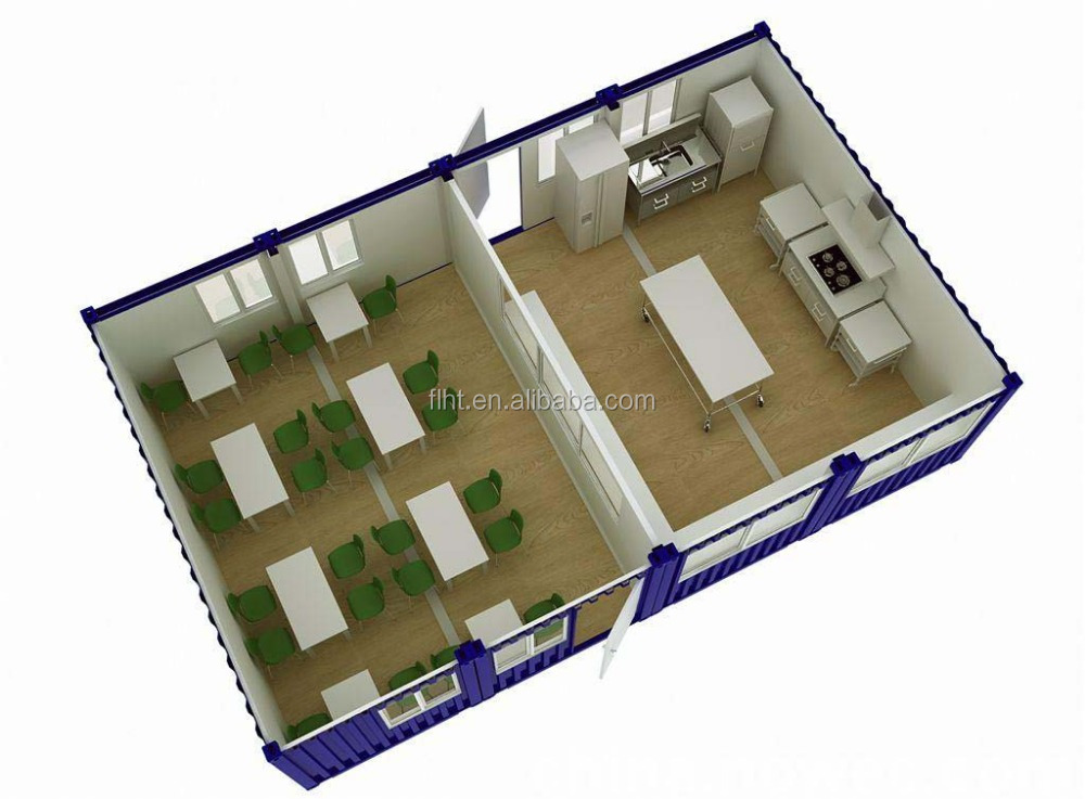 Connected Flat Pack Container House For Meeting Room