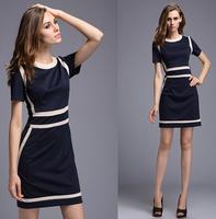 2016 New Fashion OL Women Ladies Office Dress Clothes Knee-length Bodycon Slim Pencil Party Dress