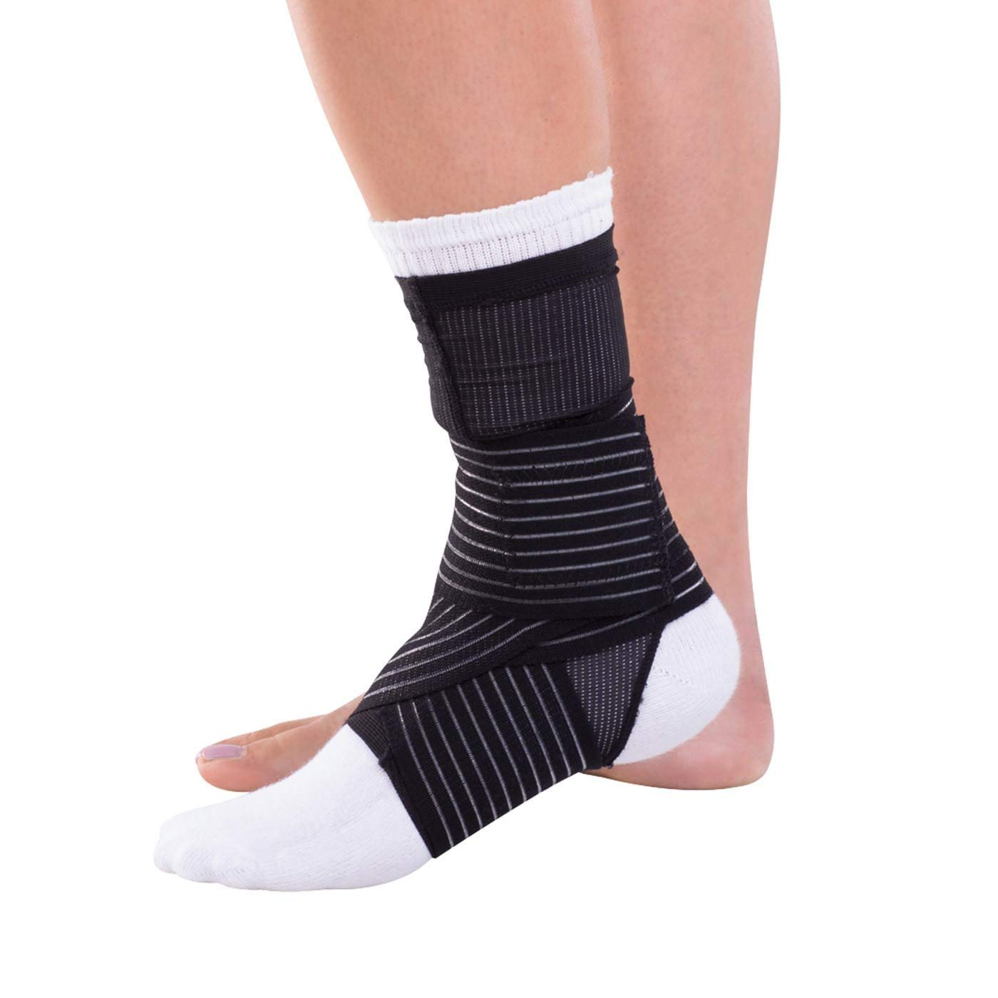 1383397e1b8 Get Quotations · DonJoy Advantage DA161AV03-BLK-XL Ankle Sleeve with Figure  8 Straps for Sprains