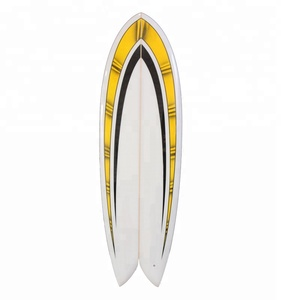 Hot Selling PU Fiberglass Fish Tail Surfboard For Surfing