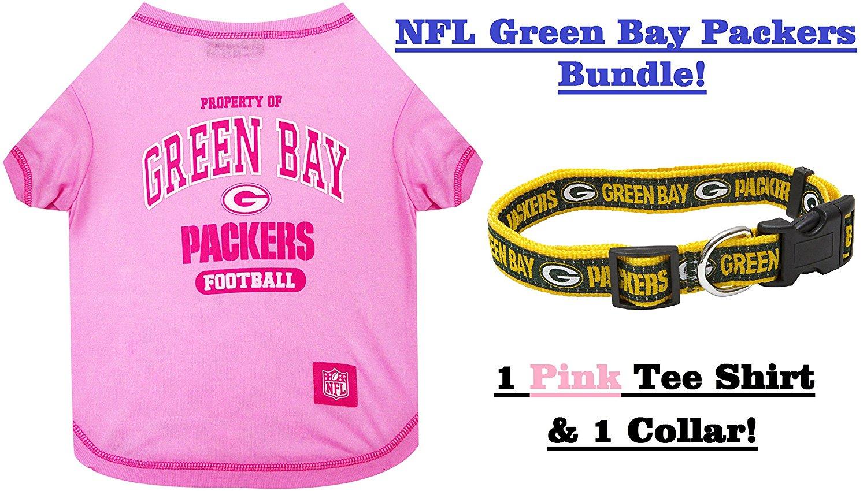 Get Quotations · NFL Green Bay Packers PET COLLAR   PET TEE SHIRT Bundle c9e58b44d