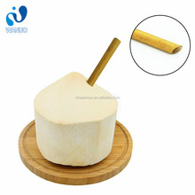 WanuoCraft Large Diameter 8 - 9 mm Obligue Section Bamboo Drinking Smoothie Coconut Straws