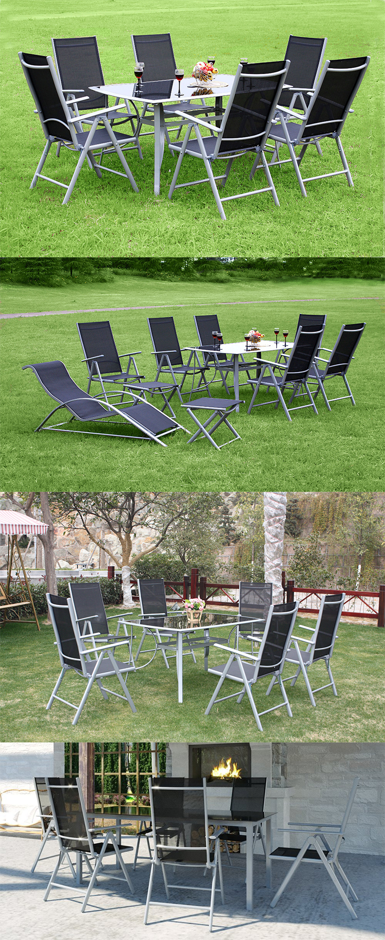 Best selling aluminium garden table and chairs