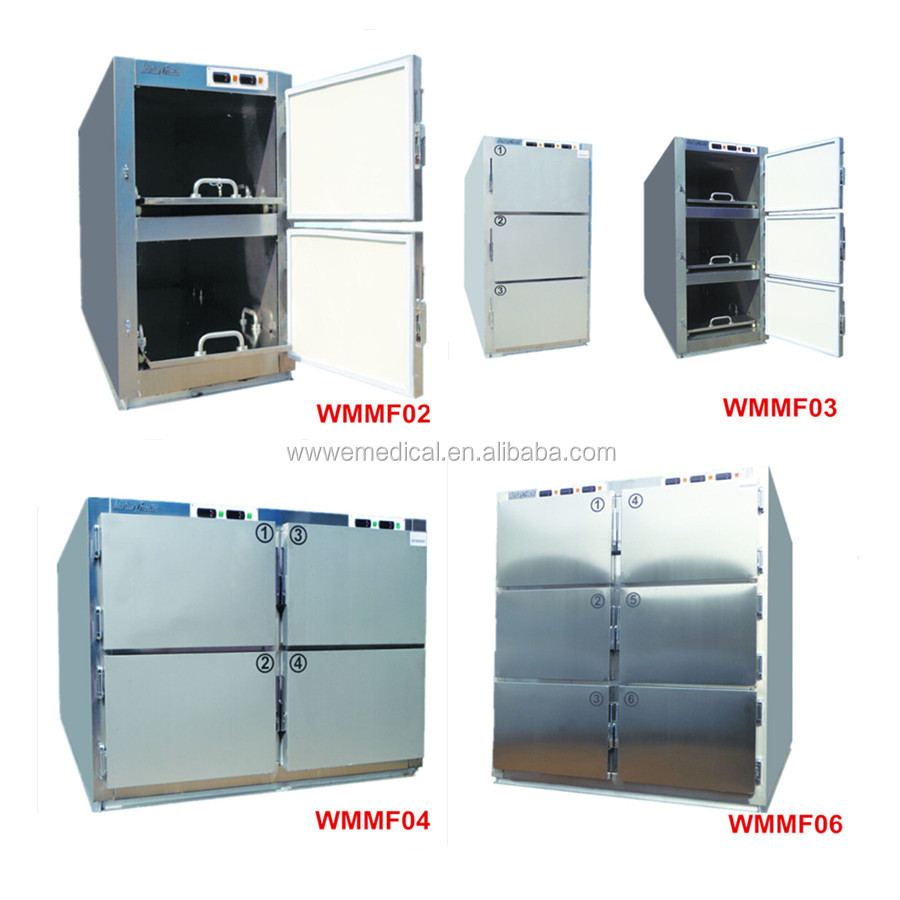 WMMF 6 corpses stainless steel medical mortuary freezer refrigerator price