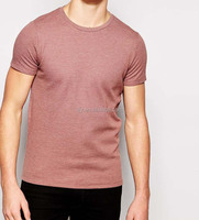 Men's cheap promotional round neck slim fit man t shirt