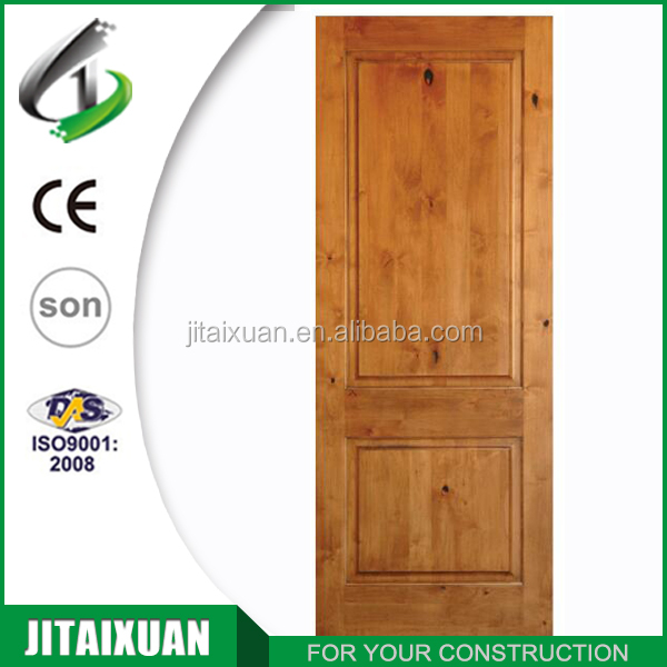 Interior Full Solid Wood Door Knotty Alder Door 2 Panel Door With Top  Square Design   Buy Solid Door,2 Panel Door,Knotty Alder Door Product On  Alibaba.com