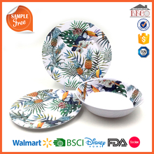 Top Choice Trend Plastic Melamine Bird Dinnerware Sets