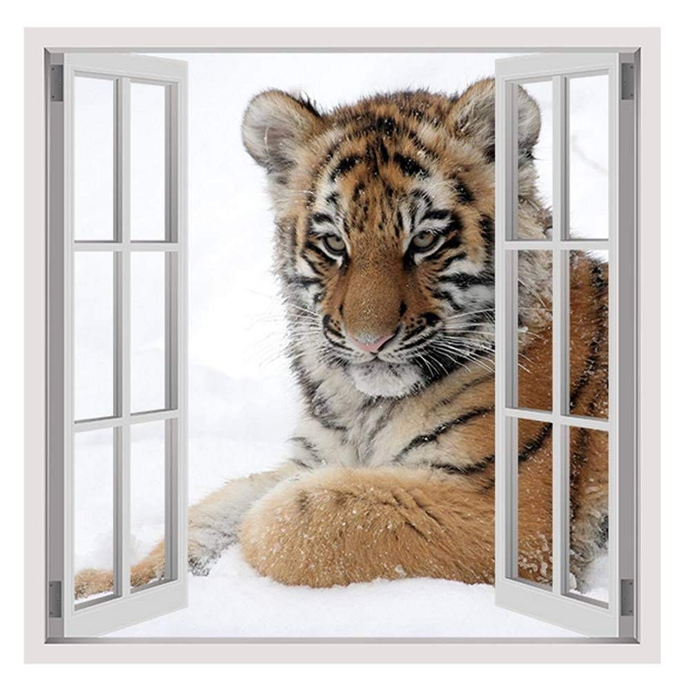 """Tiger in The Snow by Fake 3D Window 
