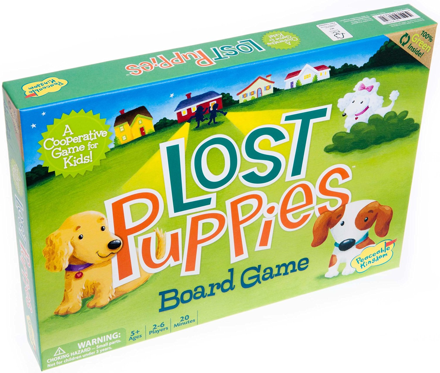 Peaceable Kingdom Lost Puppies Award Winning Cooperative Game for Kids