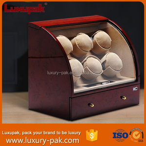 High Quality Wooden automatic 6+4 watch winders with compartments for 10 watches