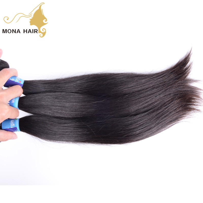 Natural Can Be Dyed Human Hair Extensions 16 Inch Short Hair