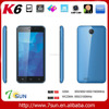 "K6 3G Smartphone 5"" Android 5.1 MTK6580 Quad Core OTG GPS Bluetooth smart phone android"