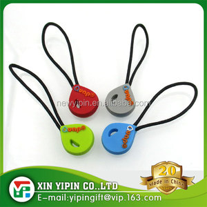 Custom pvc soft rubber zipper puller for clothes