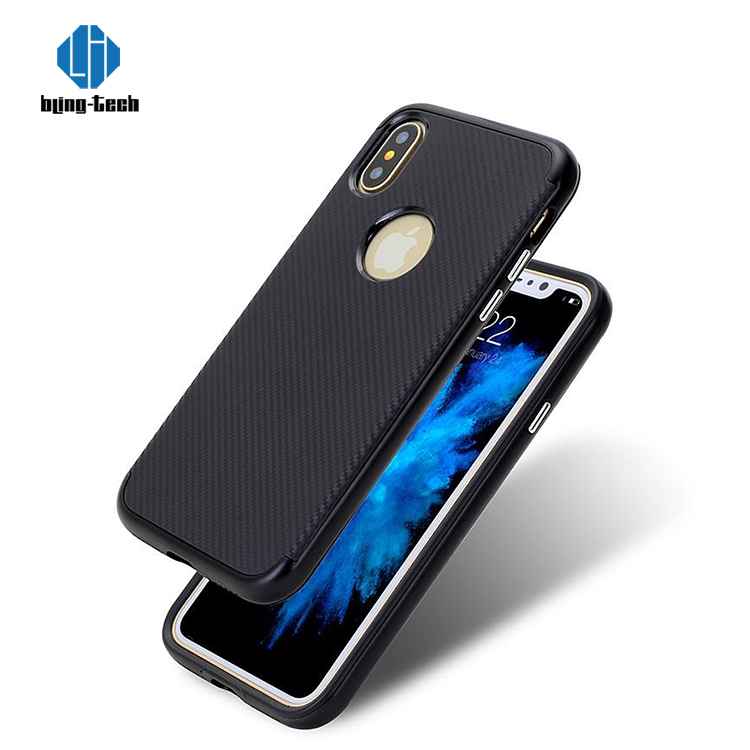 Real Blue Carbon Fiber Soft Tpu For Iphone X Case