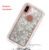 แฟชั่น luxury quicksand bling สำหรับ iPhone XS guard shell สำหรับ iPhone X liquid
