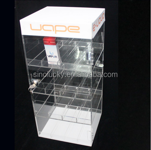 ACRYLIC LOCKING DISPLAY CASE -E-LIQUID/VAPE PENS/E-CIG JUICE BOTTLE CABINET