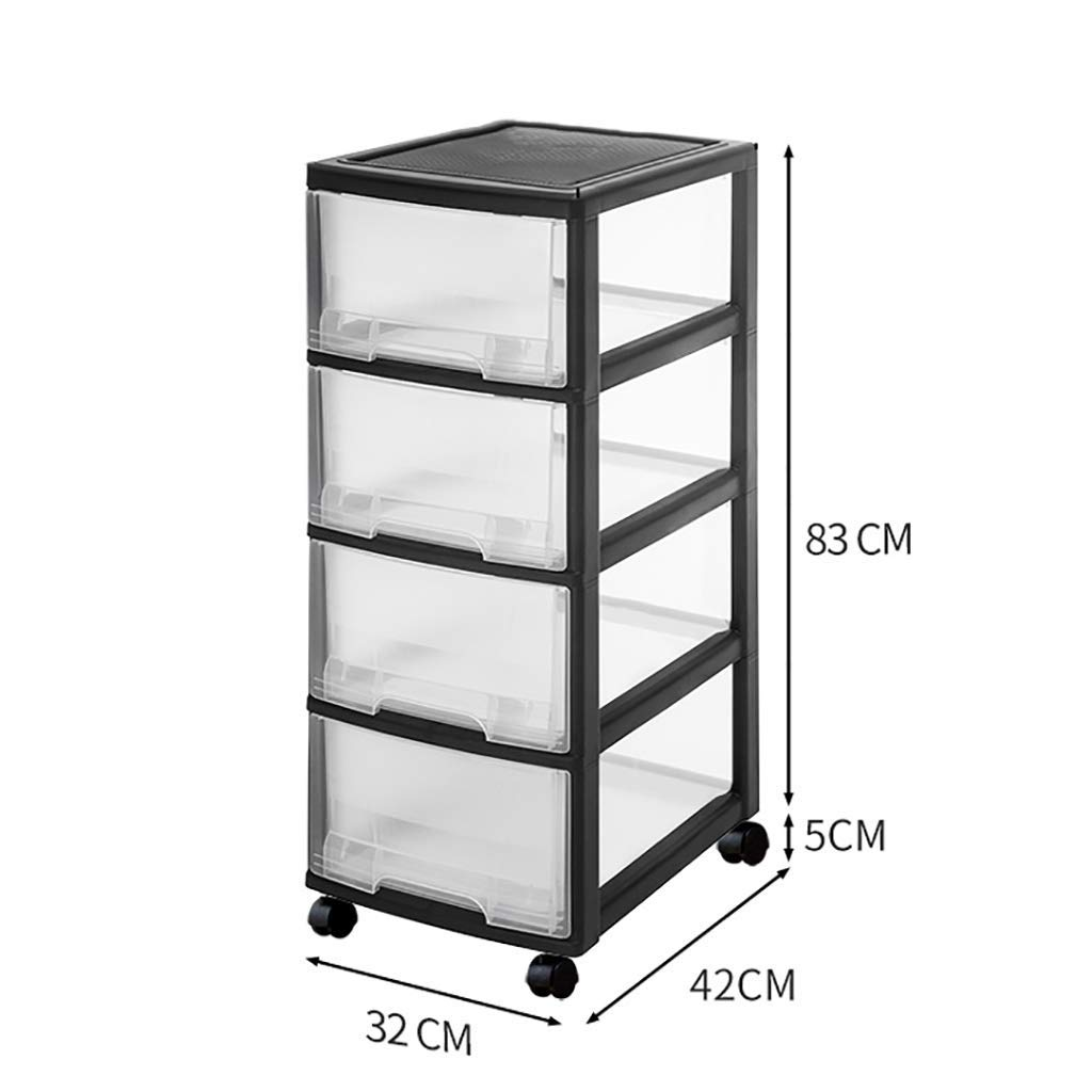 WJ Drawers Drawer Storage Trolley, Monochrome Mobile Storage Trolley Home,Office & Salon (Color : A, Size : 324283cm)