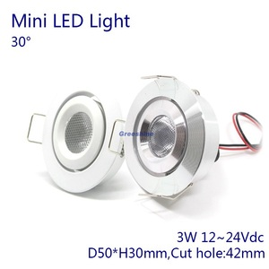 IP52 Waterproof DC12V 3W Mini LED Light LED Recessed Downlight Spotlight 24V for Dining Room 5 year warranty