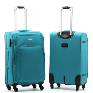 Wholesale trolley luggage suitcase with 4 Spinner 360 Degree Wheels