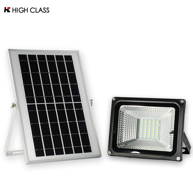 High efficiency outdoor ip65 waterproof wall mounting solar led flood lamp