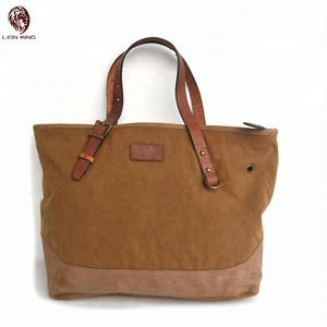 Stock High Quality Casual Canvas Top Handle Satchel Handbags Tote Shopping Travel Bag