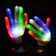 European Gloves 15pcs led white 23cm flashing Color LED glow Gloves