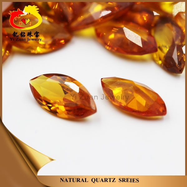 Wholesale price synthetic marquise cut yellow corundum sapphire stone