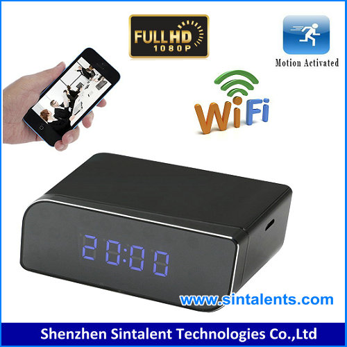 IPC clock table alarm clock with hiding Monitoring Camera for home or office