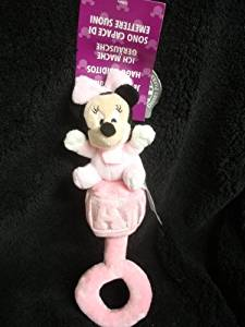 DISNEY PARKS EXCLUSIVE : Minnie Mouse Plush Baby Rattle
