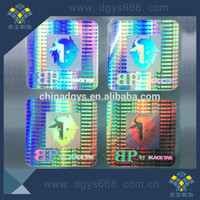 Waterproof clear PVC vinyl scecurity sticker sheet with 3D hologram effect