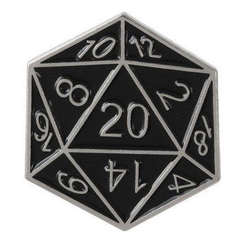 Hot sale Metal dice different number sides pin badge