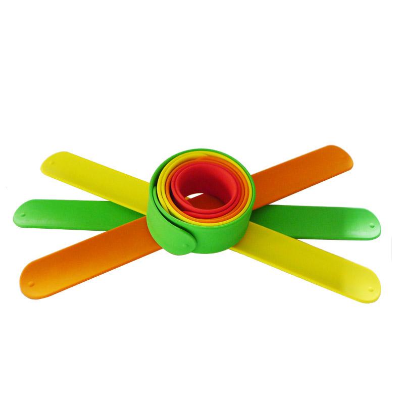 Wholesale Cheap Price Promotion Logo Printing Custom Silicone Ruler Slap Bracelet, Any pantone colors