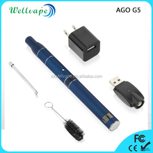 Drop shipping cheap price colorful ago-g5 dry herb ago topoo vaporizer