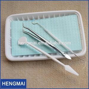 Basic Hygienic Dental Examination Kit Dentist Examination Set Surgical Pack