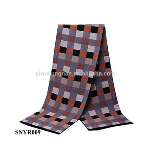 New Business Elegant Men Warm Winter Essential Brushed Plaid Scarf