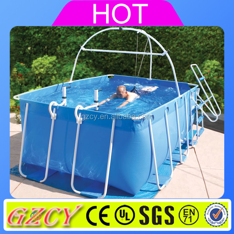 Metal frame swimming pool,stents swimming pool with step ladder