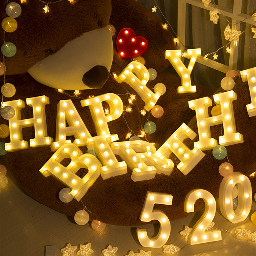 home decorative promotional custom led letter marquee lights