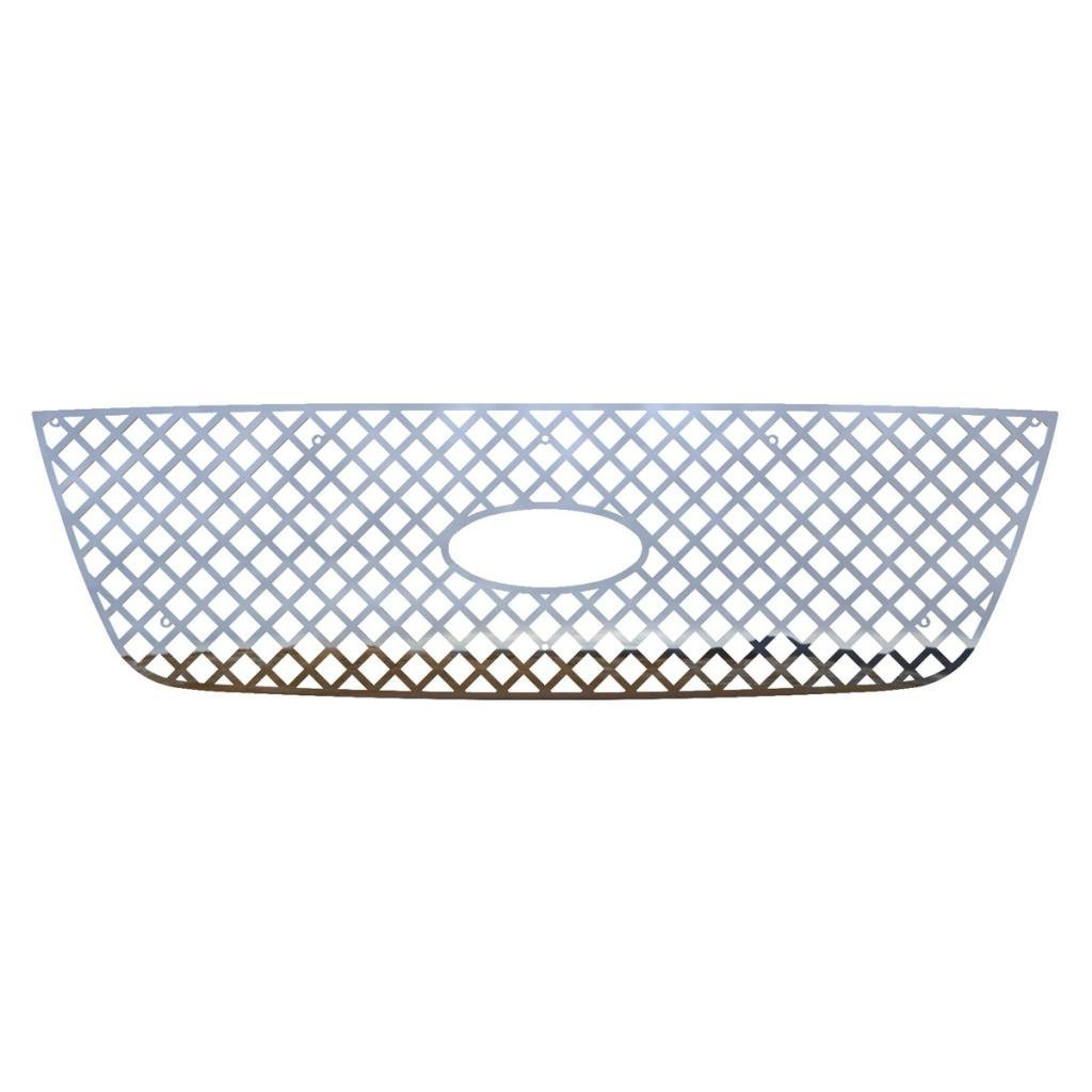 Ferreus Industries Polished Stainless Vertical Flame Grille Grill Insert Trim fits 2001-2003 Ford Ranger With Factory Bar-Style Grill TRK-153-06