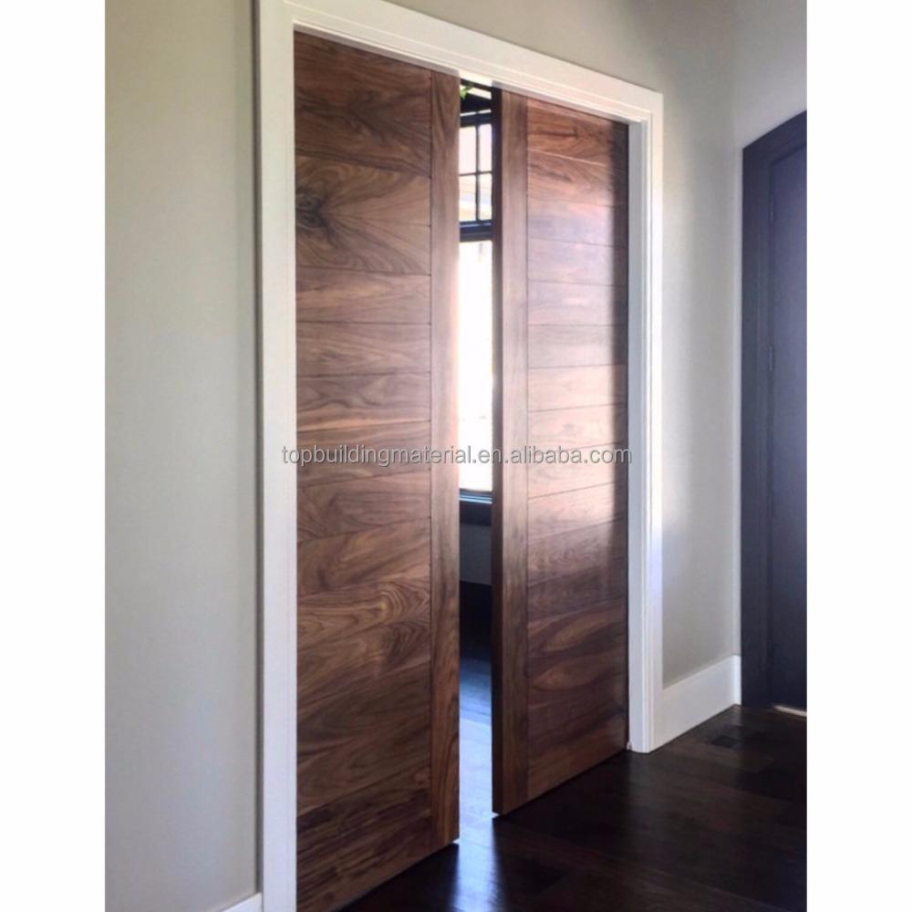 Australia modern style interior sliding walnut pocket door