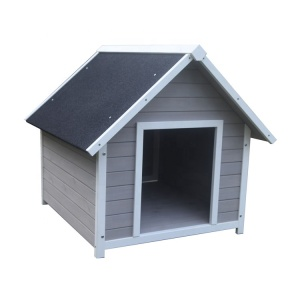 New Design Extreme Weather-Resistant Log Cabin Dog House With Openble Door