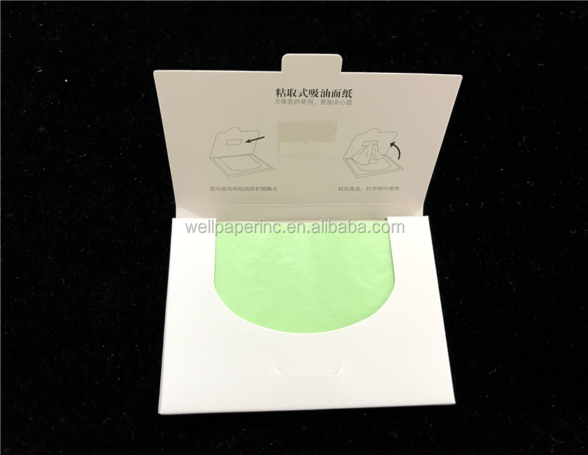 Premium Facial Oil Blotting Paper, 50 Counts - Natural white Face Blotting Sheets, Easy Take Out Design - Top Handy Oil Absorb