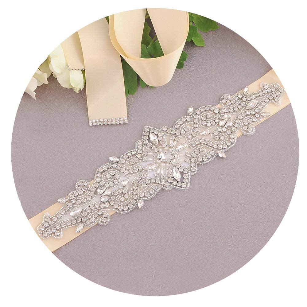 Azaleas Women's Crystal Belt,Bridal Belt Sashes,Wedding Belts Sash,jeweled belt